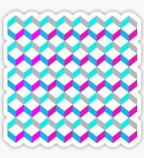 Bold Bright Trendy Optical Illusion Color Blocks Geometric Print Sticker