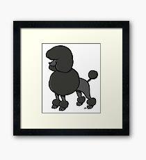 Poodle cartoon dog breed Framed Print