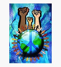 Unity And Peace - Raised Fists! Photographic Print