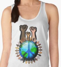 Unity And Peace - Raised Fists! Women's Tank Top
