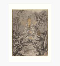 White-Robed Kannon, Kawanabe Kyosai ( Art Print
