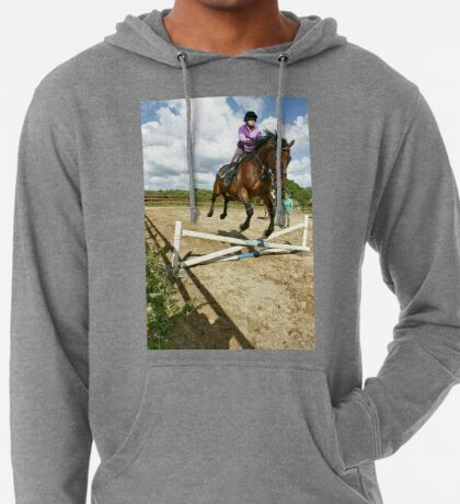 How to ride a horse: Get on it, and off you go! Lightweight Hoodie