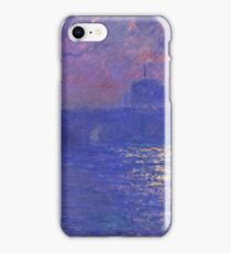 Claude Monet - Waterloo Bridge.  Sunlight Effect , Impressionism iPhone Case/Skin