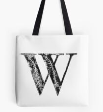 Serif Stamp Type - Letter W Tote Bag