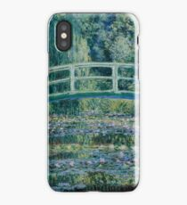Claude Monet - Water Lilies and Japanese Bridge (1899)  Impressionism iPhone Case/Skin