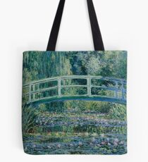 Claude Monet - Water Lilies and Japanese Bridge (1899)  Impressionism Tote Bag