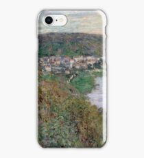 Claude Monet - View of Vetheuil (1880)  Impressionism iPhone Case/Skin