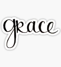 Grace Handwritten Script Sticker