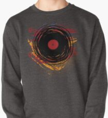 Vinyl Record Retro Grunge with Paint and Scratches - Music DJ! Pullover
