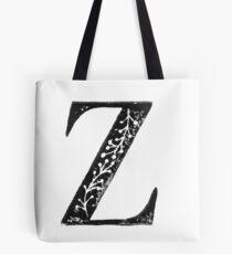 Serif Stamp Type - Letter Z Tote Bag