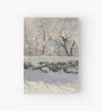 Claude Monet - The Magpie  Impressionism Hardcover Journal