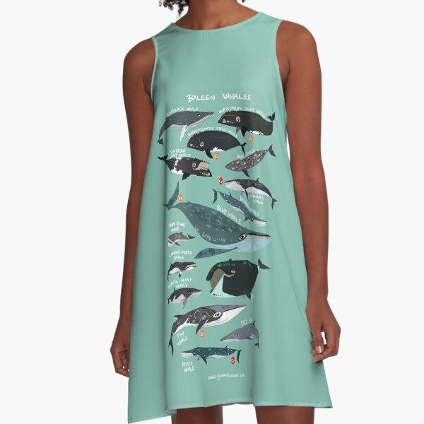 Baleen Whales A-Line Dress
