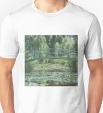 Claude Monet - The Japanese bridge, Impressionism Unisex T-Shirt