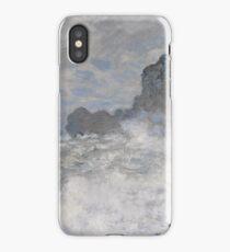 Claude Monet - Rough weather at Etretat, Impressionism iPhone Case/Skin