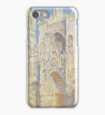 Claude Monet - Rouen Cathedral.  West Facade.  Sunlight  , Impressionism iPhone Case/Skin