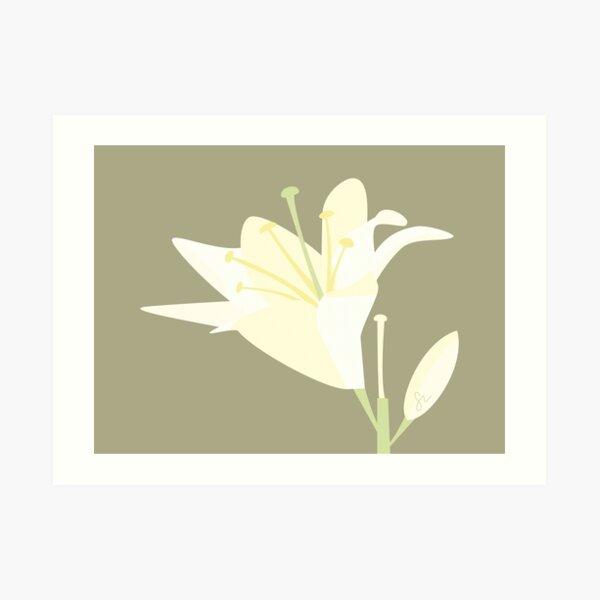 Minimalist Lily Art Print