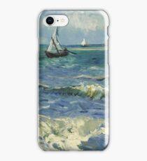 Vincent Van Gogh - Post- Impressionism Oil Painting , Seascape near Les Saintes-Maries-de-la-Mer, June 1888 - 1888 iPhone Case/Skin
