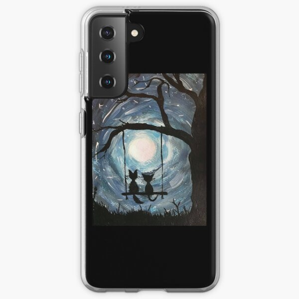 Starry night galaxy cats. Samsung Galaxy Soft Case