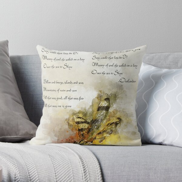Skye Boat Song Throw Pillow