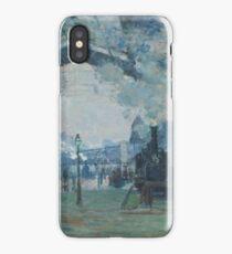 Claude Monet - Arrival of the Normandy Train  Gare Saint-Lazare  iPhone Case