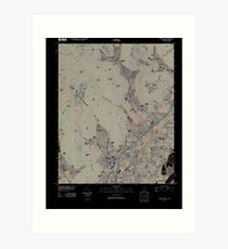 USGS TOPO Map Alabama AL Doran Cove 20100510 TM Inverted Art Print