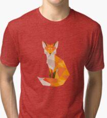 Geometrischer Fuchs Vintage T-Shirt