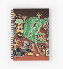Cuaderno de espiral danza de los geckos