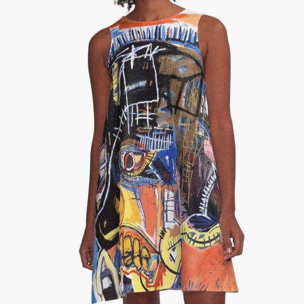 best seller basquiat untitled skull A-Line Dress