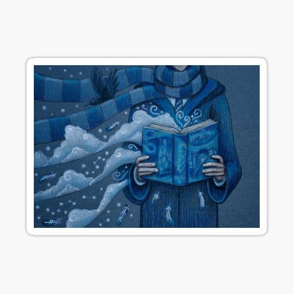 Books magic blue Sticker