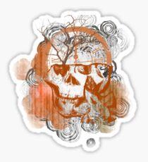 Timepiece Skull Sticker