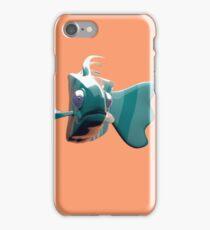 Brian The Fish - Orange Background iPhone Case/Skin