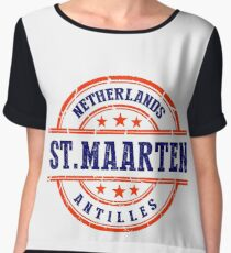 St. Maarten, The Netherlands Antilles Women's Chiffon Top