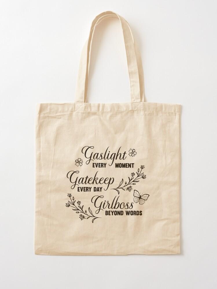 Alternate view of Gaslight Gatekeep Girlboss Meme Tote Bag