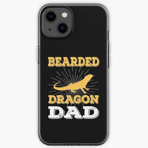 funny distressed  bearded dragon dad vintage gift iPhone Soft Case