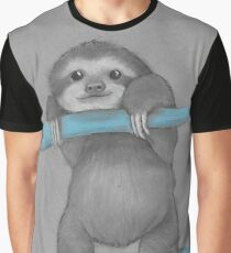 Cute adorable sloth illustration oil pastel Graphic T-Shirt