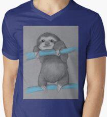 Cute adorable sloth illustration oil pastel T-Shirt