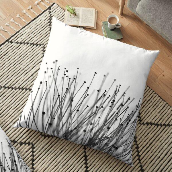 Macro Flowers Art Floor Pillow