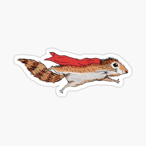 Super Squirrel, cute flying squirrel Sticker