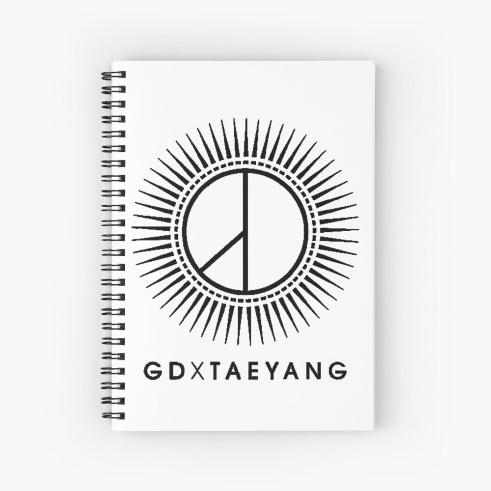 GD X TAEYANG Logo Spiral Notebook