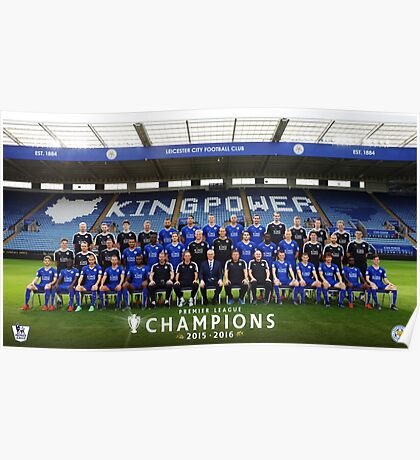 Leicester champions team Poster