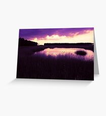 The End of a Perfect Day Greeting Card