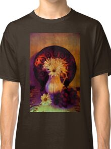 Still Life with Daisy flowers and grapes Classic T-Shirt
