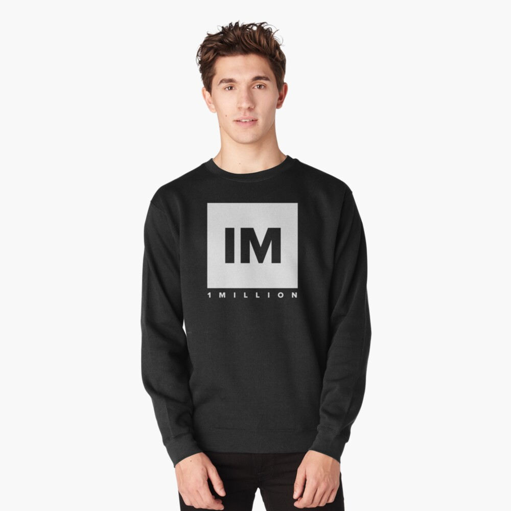 1 MILLION Dance Studio Logo (White Version) Pullover Sweatshirt