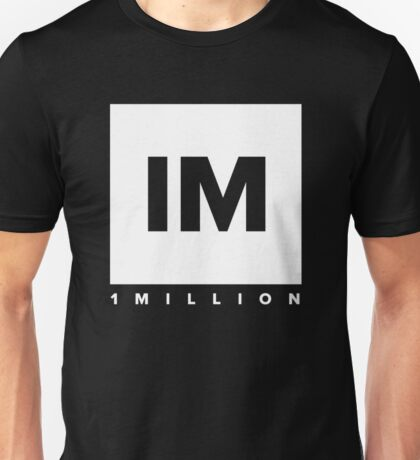 1 MILLION Dance Studio Logo (White Version) Unisex T-Shirt