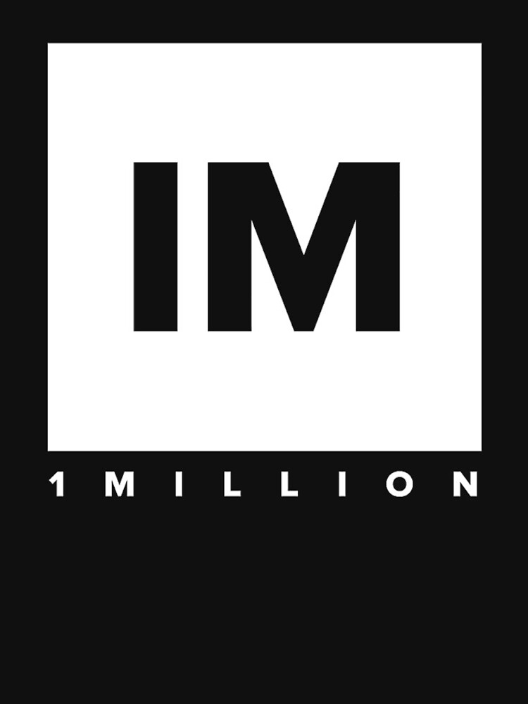 1 MILLION Dance Studio Logo (White Version) by gdragon88