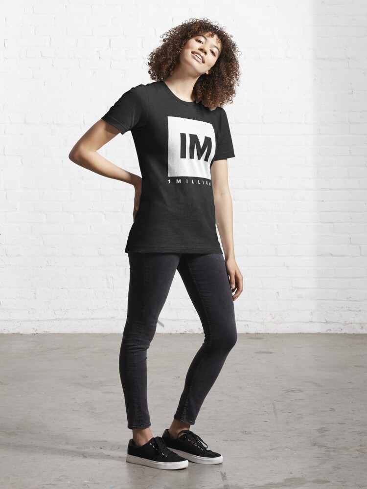 Alternate view of 1 MILLION Dance Studio Logo (White Version) Essential T-Shirt