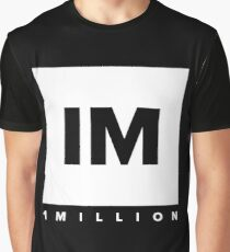 1 MILLION Dance Studio Logo (White Version) Graphic T-Shirt