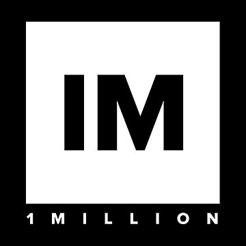 1 MILLION Dance Studio Logo (White Version) by gdragon88