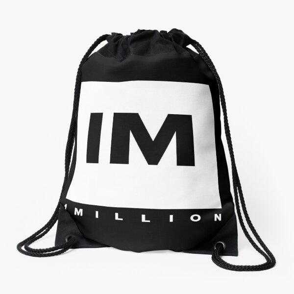 1 MILLION Dance Studio Logo (White Version) Drawstring Bag