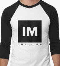 1 MILLION Dance Studio Logo (Black Version) Men's Baseball ¾ T-Shirt